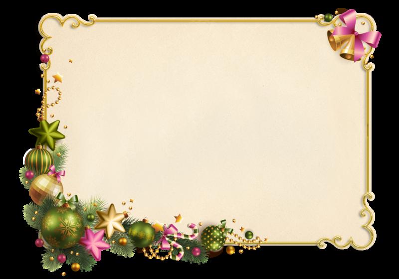 Для александры, обрамление для новогодней открытки