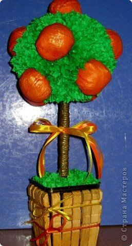 Мастерим новогоднее деревце из мандаринов