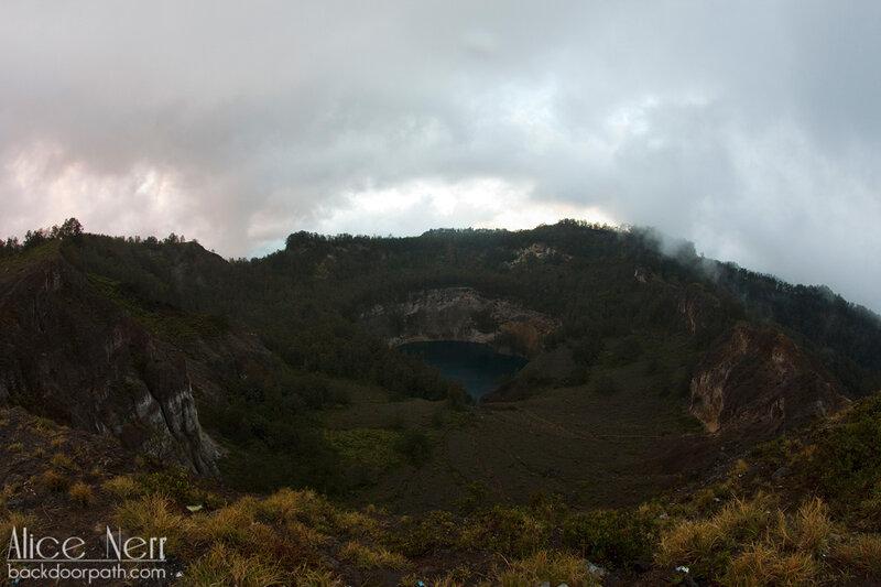 растительность вокруг озера Старых, Келимуту, Флорес, Индонезия