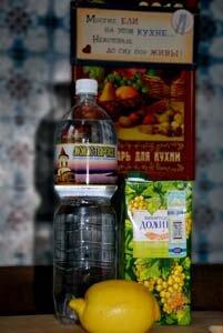 Продукты для приготовления коктейля от похмелья