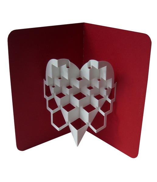 Объёмное сердце из бумаги
