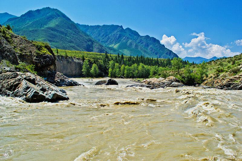 Порог Турбинный на реке Чуя