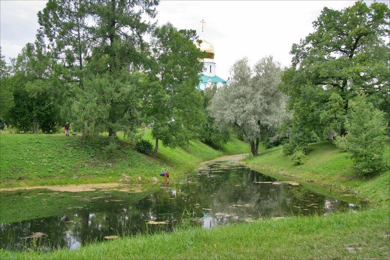 Федоровский собор в Царском Селе. Вид со стороны Александровского парка