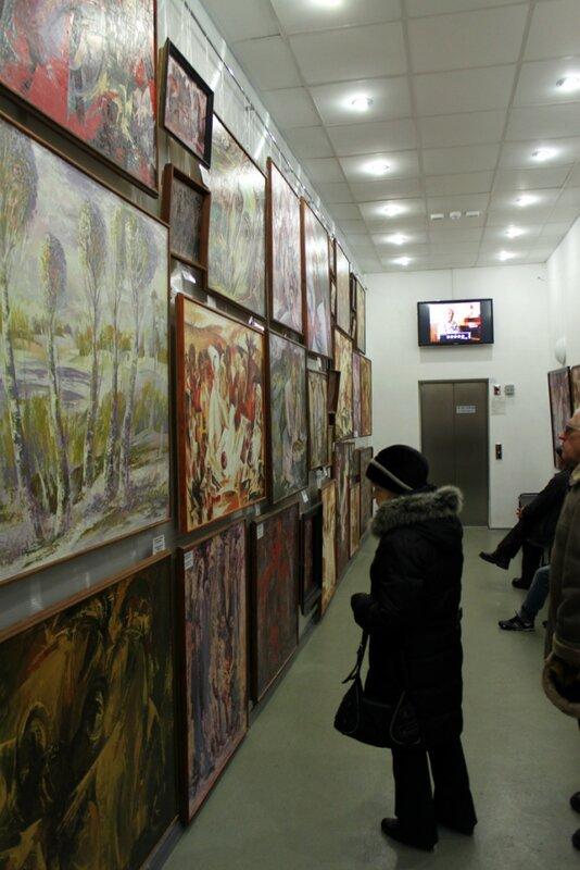Выставочный зал музея голодомора
