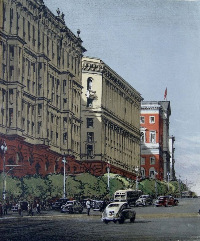 Эммануил Бенционович Бернштейн. Улица Горького, 1953.