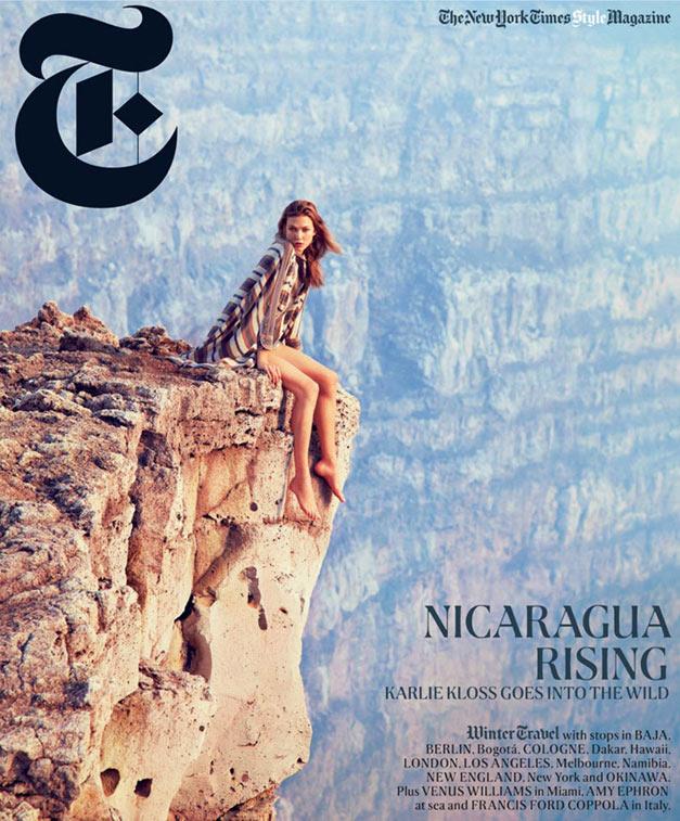 Karlie Kloss / Карли Клосс на обложке журнала The New York Times Style Magazine, зима 2012 / фотограф Ryan McGinley