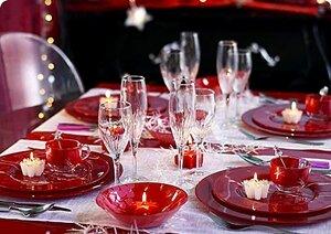 элементы новогодней сервировки