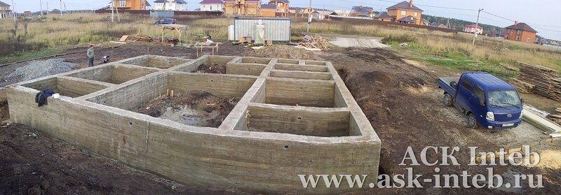 глубина фундамента для дома из клееного бруса