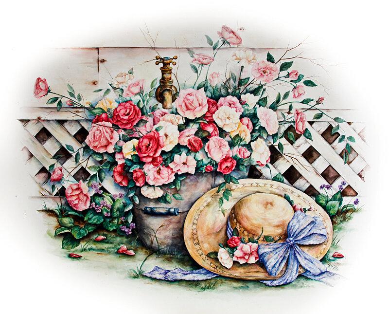 картинки розы красивые рисунки прованс