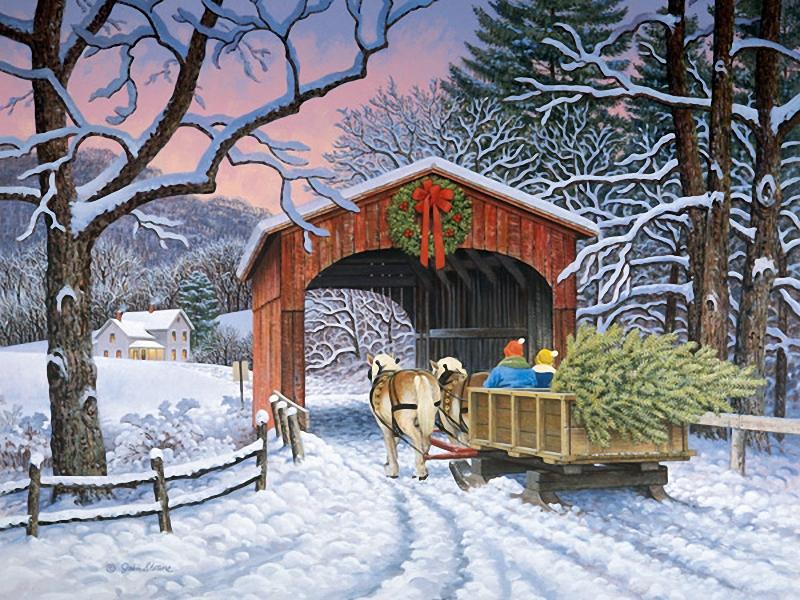 """Схемы вышивки  """"зима.люди.елка.люди.рождество """" - Схемы вышивки по тегам - Портал  """"Вышивка крестом """" ."""
