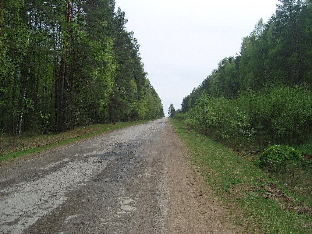 Строево -> Мокрое. Действующий участок бывшего Гжатского тракта
