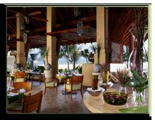 Малайзия. Лангкави. Four Seasons Resort Langkawi. Dining terrace at Serai