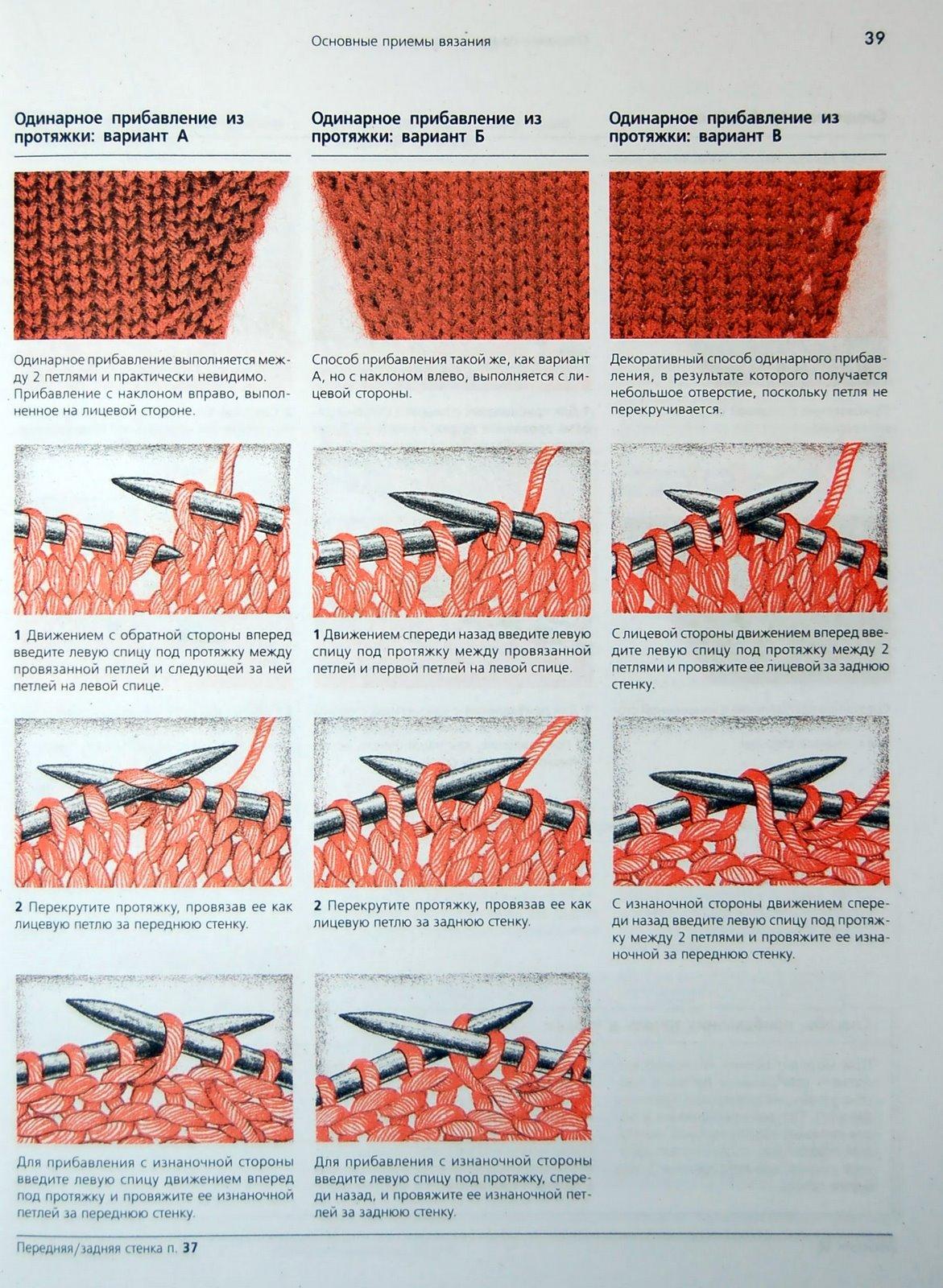 Прибавка в вязание