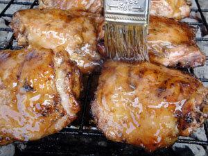 Курица на Гриле в Нектаре Гуавы. Готовая курица