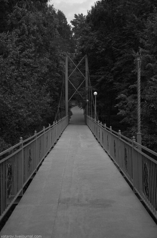 Мост через Репинский овраг в Обнинске