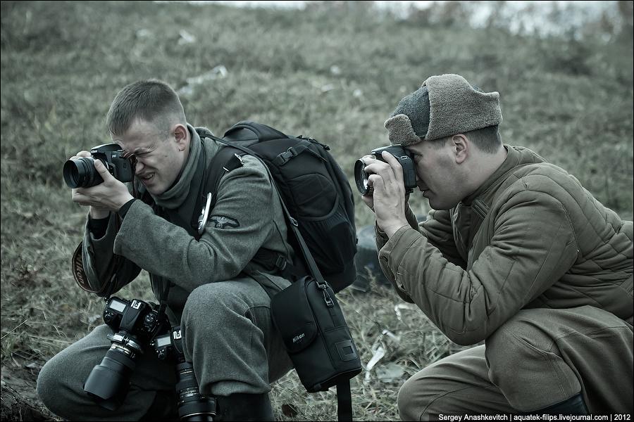 Фотографы на реконструкции