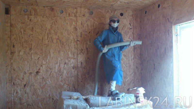 Отверстия в стене для утепления Эковатой