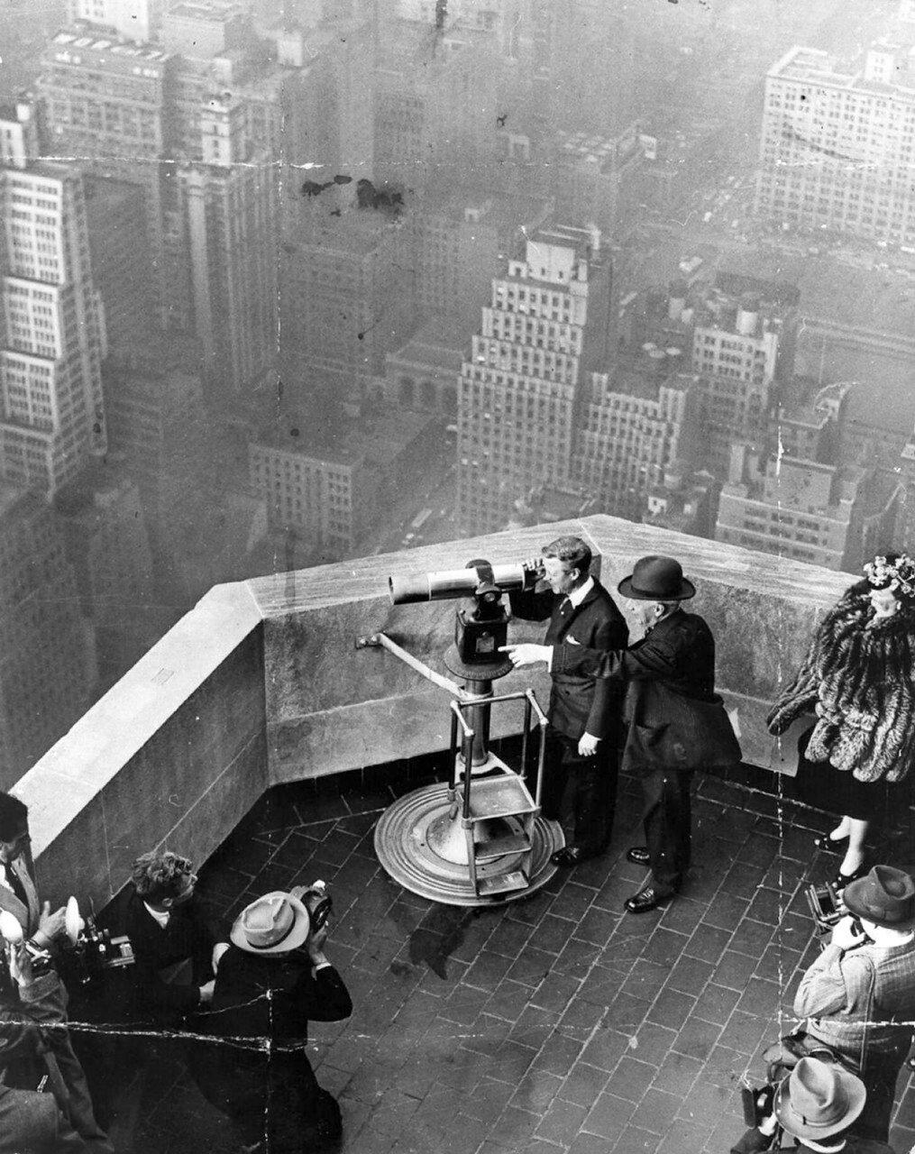 1941. В ожидании Кинг-Конга. Герцог Виндзорский  с губернатором Элом Смитом, Эмпайр Стейт Билдинг