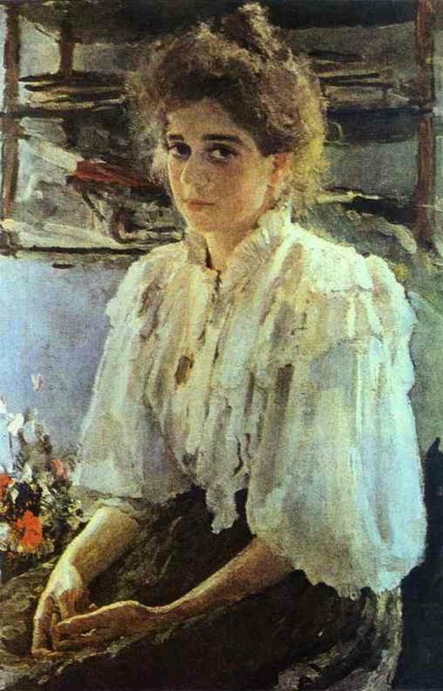 Portrait of Maria Lvova, 1895, Valentin Serov (1865-1911);