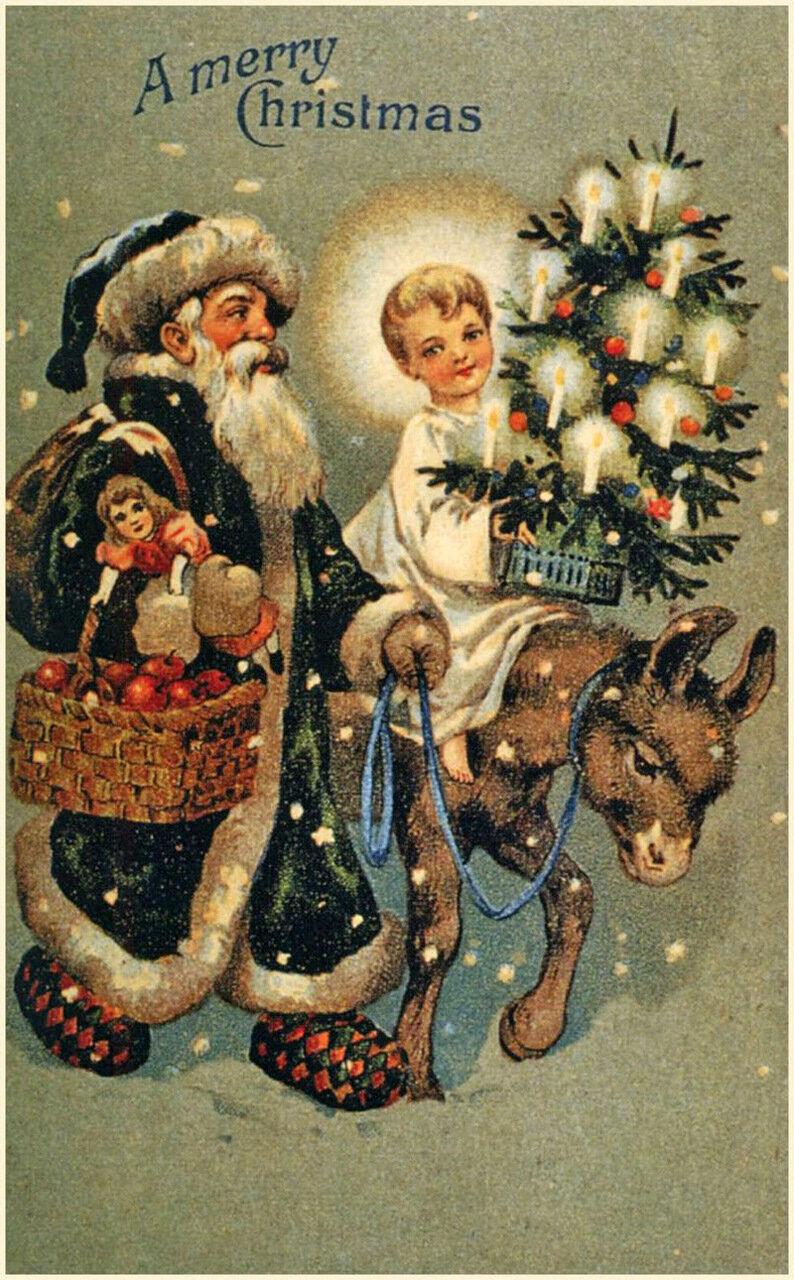 Старинные открытки к новому году фото