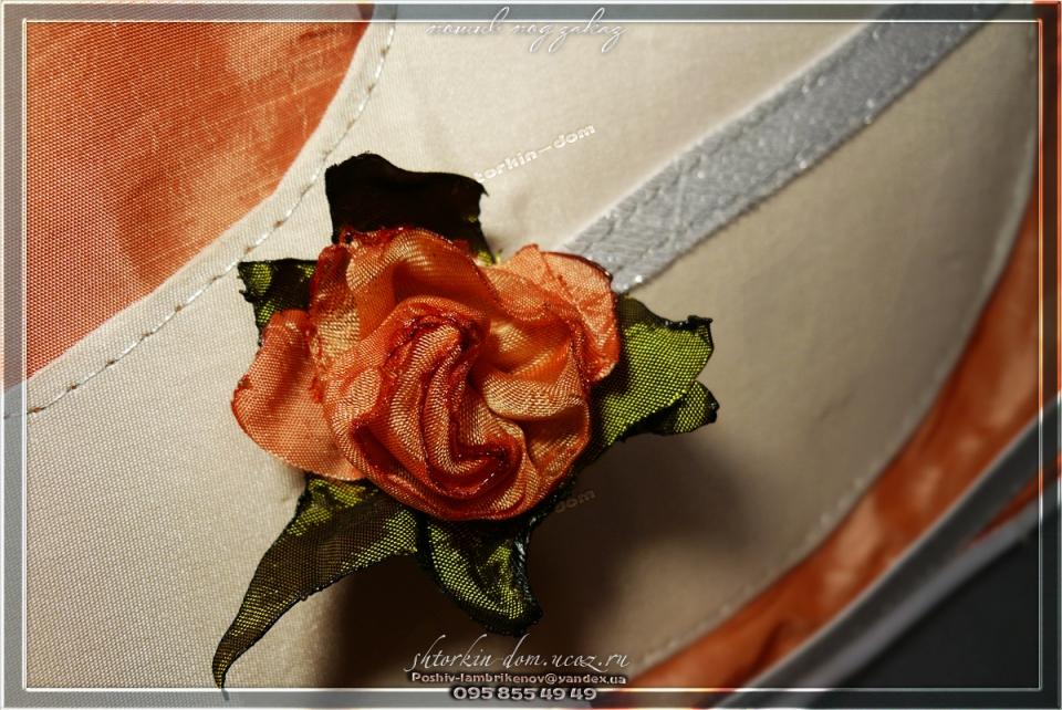 пошив штор и ламбрекенов,цветы из ткани