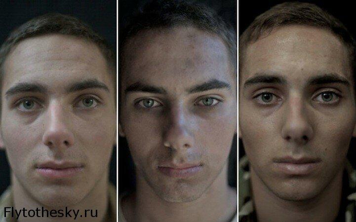 Портреты солдат до, во время и после войны