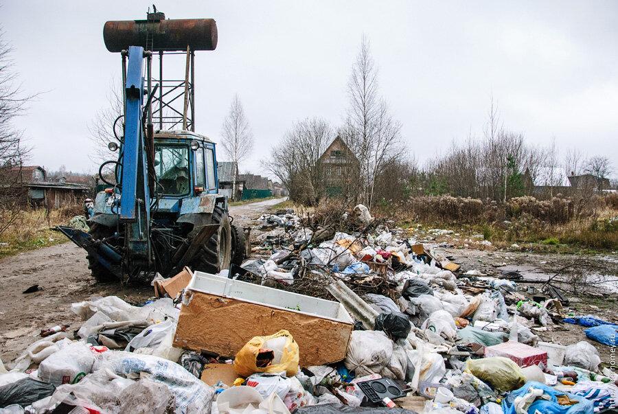 где в сарове свалка мусора