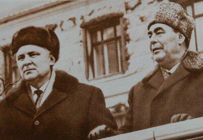 В Киеве во время митинга с земляком товарищем Брежневым