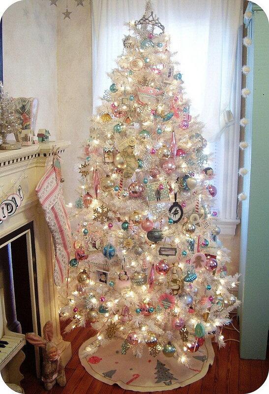 Новогодний декор, новогодний интерьер, новогодние ёлки, ёлочные украшения