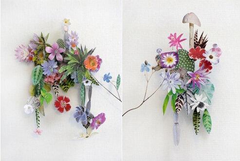 Цветочные композиции из бумаги
