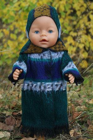 длинное пальто для куклы