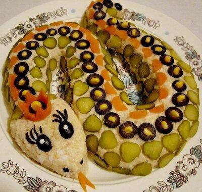 вкусный салат Змейка 2013