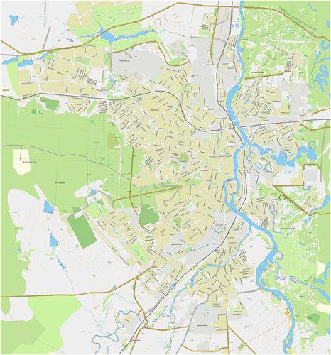 Подробная карта Пензы с улицами, нажмите, чтобы скачать оригинал