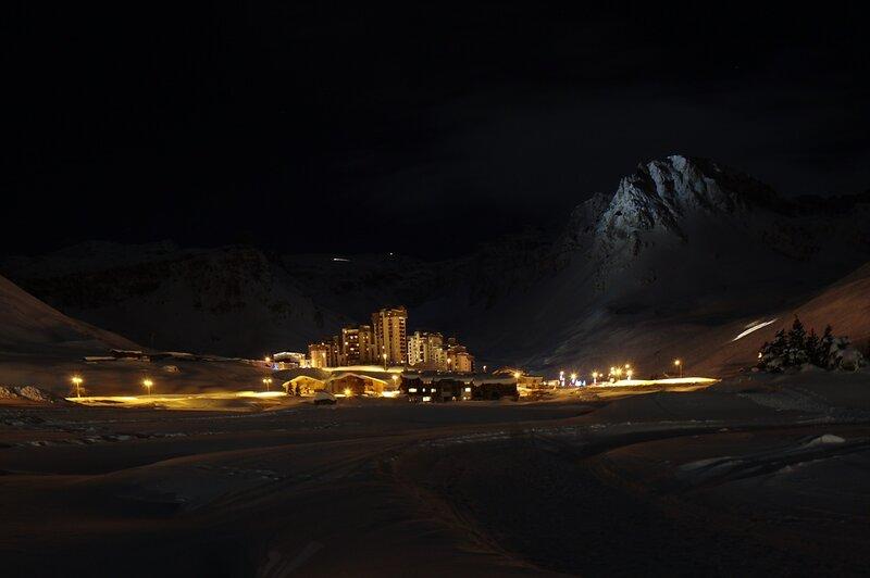 Val Claret ночью