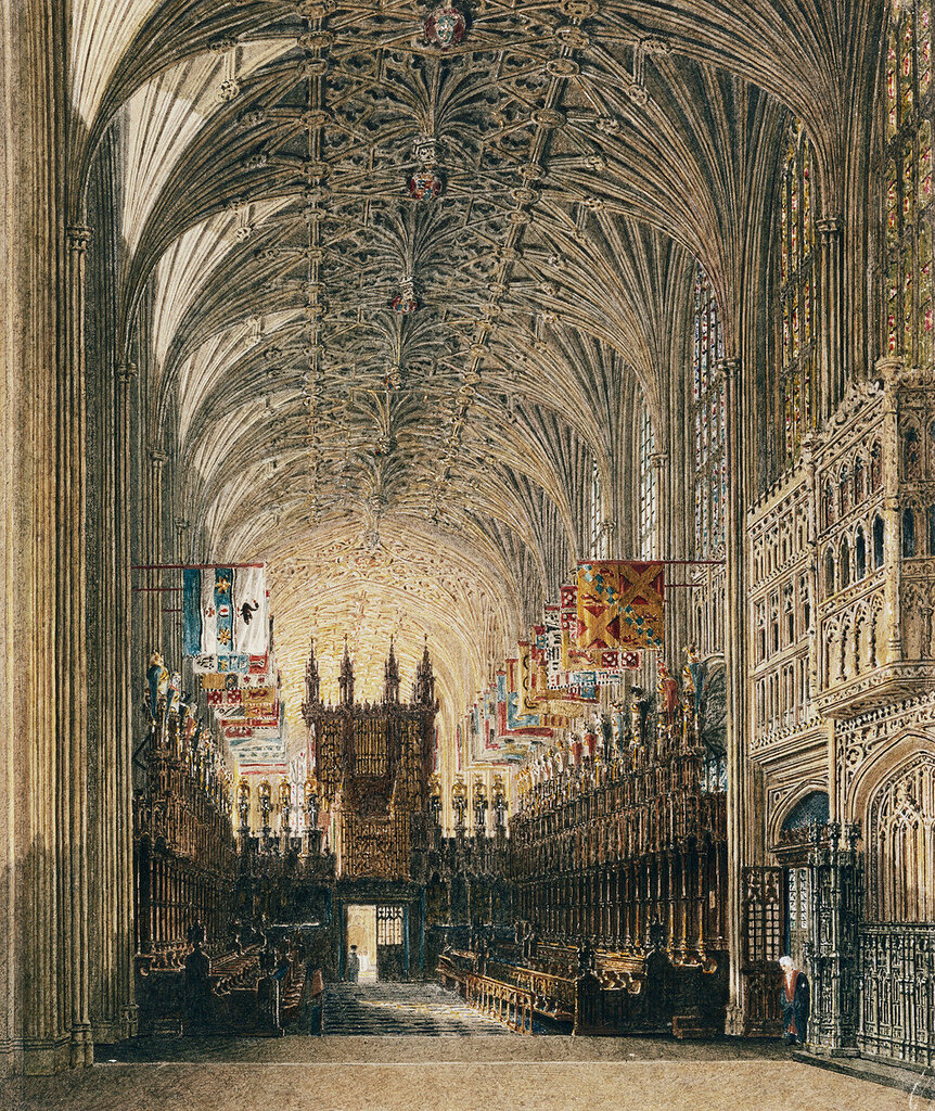 St George's Chapel, looking west, Windsor Castle