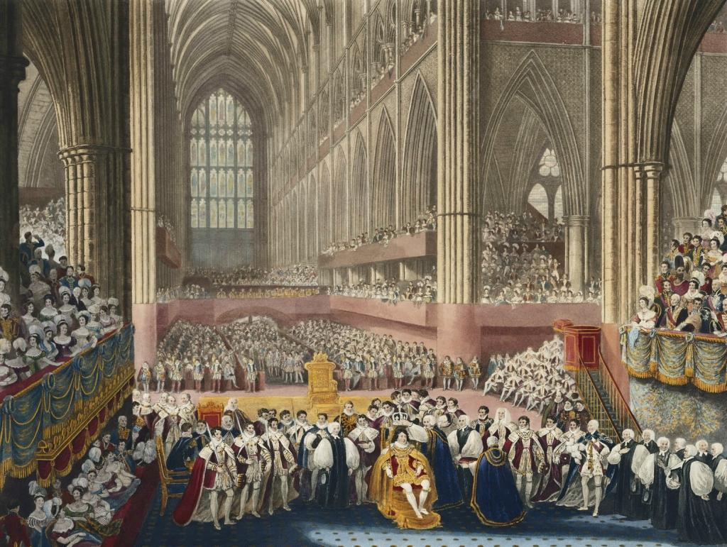 Коронация Георга IV в Вестминстерском аббатстве. 19 июля 1821.