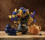 Синее и желтое. Автор Татьяна Еремеева