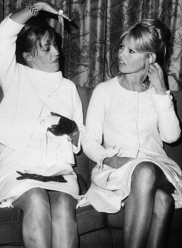 Jeanne Moreau and Brigitte Bardot Talking
