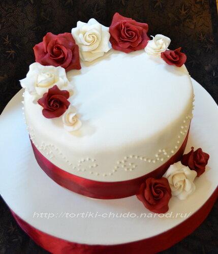 Мастика для торта розы