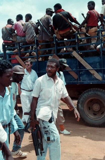 File photo of Charles Taylor in Gborplay Liberia training camp