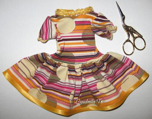 одежда для куклы, кукольная одежда, платье, платье для куклы, кукольное платье