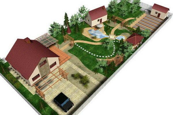 План садового участка.