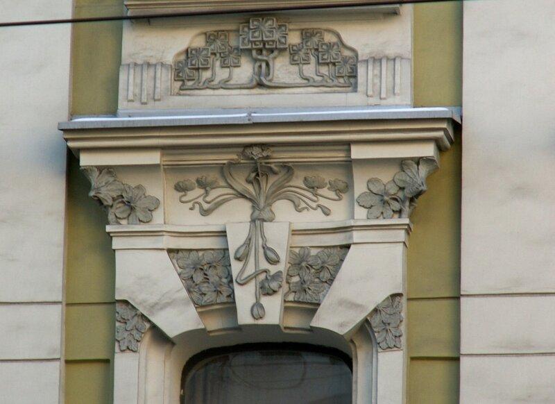Старая Басманная улица 12 Доходный дом О. О. Вильнера (1902—1904, Н. И. Жерихов; 1916, арх. Ф. Н. Кольбе)