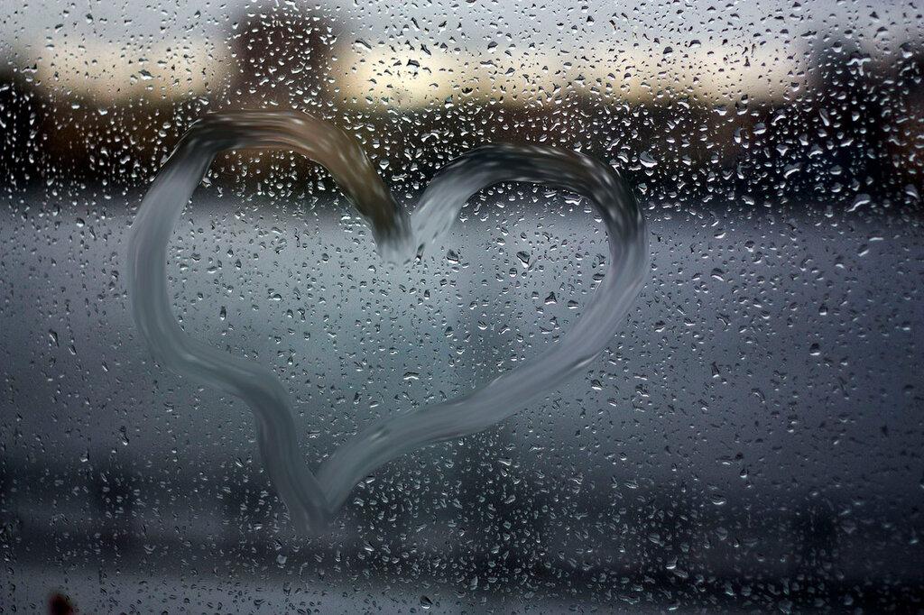 Летием женщине, картинка дождь за окном с надписями