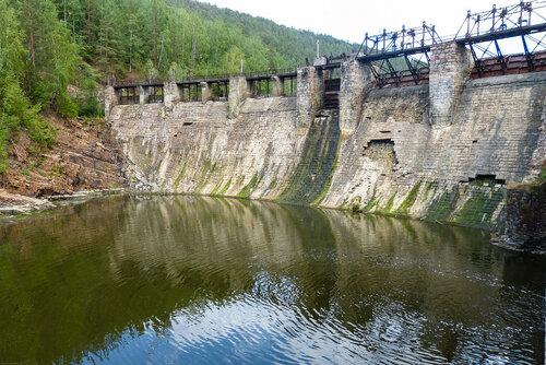 Электростанция Пороги фото панорама плотины
