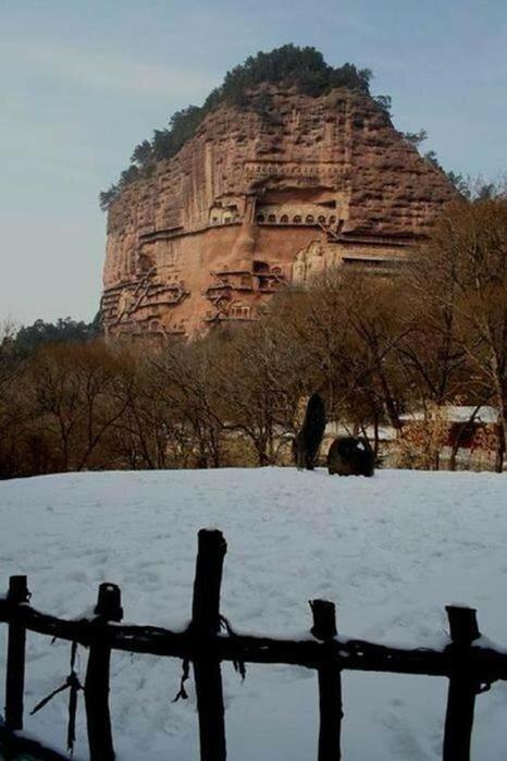Пещеры Майцзишань (фотографии невероятного сокровища Китая)