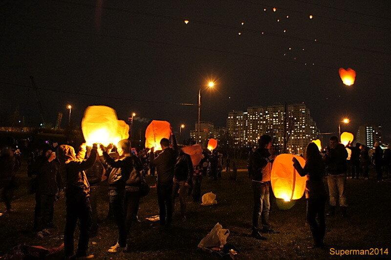 Массовый запуск небесных фонариков «Magic lamps of Halloween»