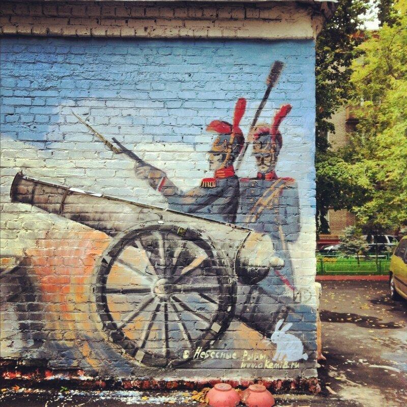 Стенная роспись на Соколе. Чапаевский пер