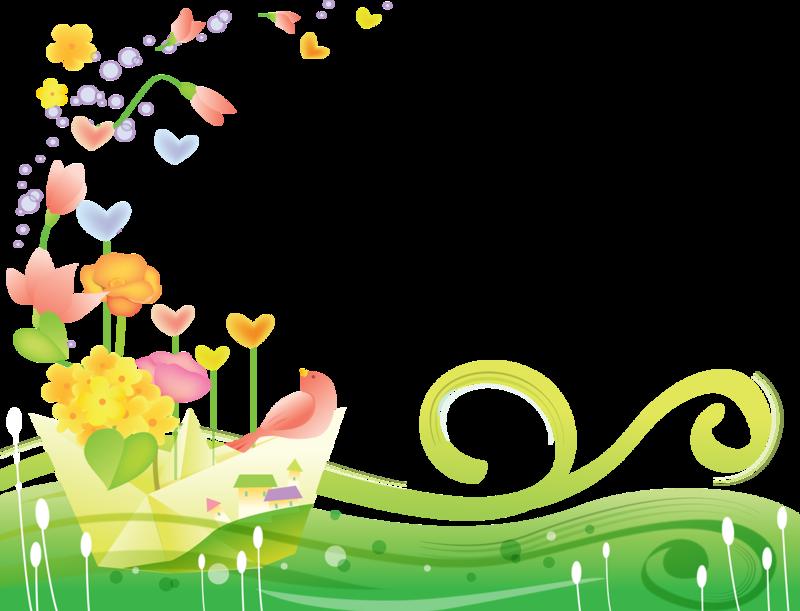 Уголки из цветов картинки