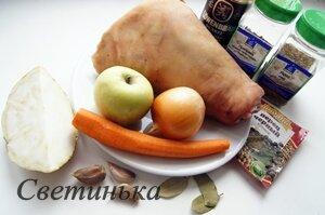 продукты для приготовления рульки